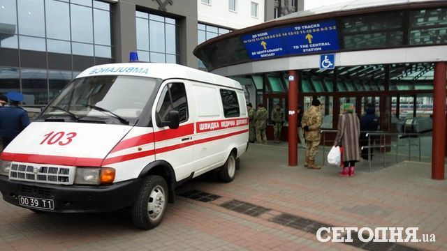 На ж/д вокзале вКиеве скончался военнослужащий