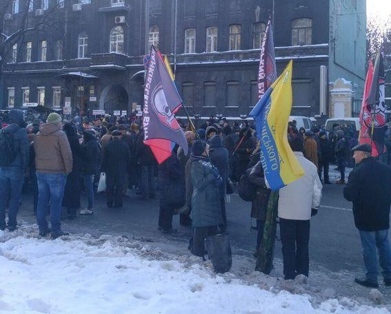 Акции протеста вцентре столицы Украины: люди уже расходятся