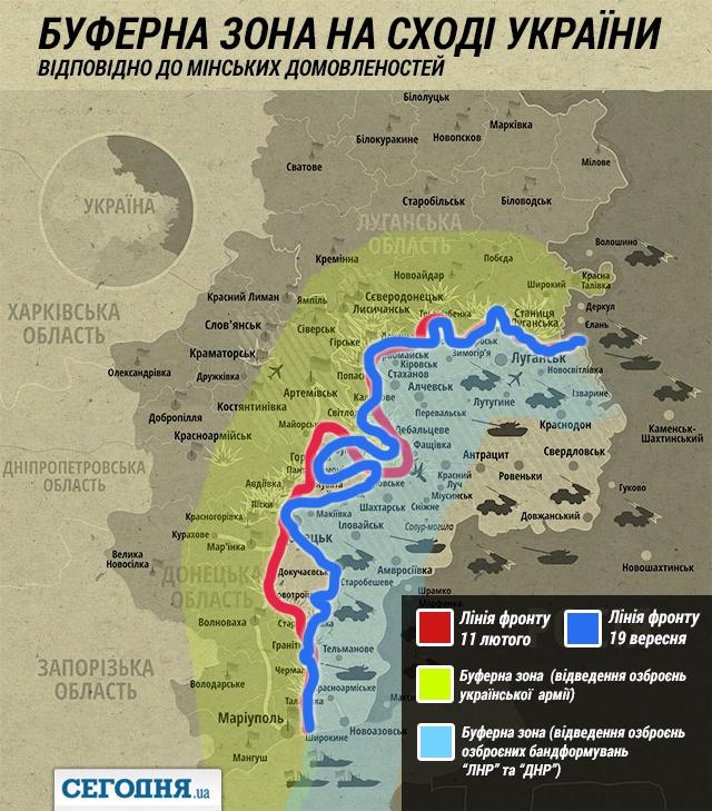 Минские соглашения - буферная зона: куда отведут тяжёлые вооружения
