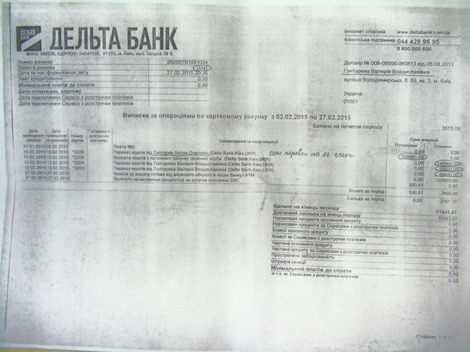 """НБУ: Сын Гонтаревой не снимал депозит перед банкротством """"Дельта банка"""" - Цензор.НЕТ 2661"""
