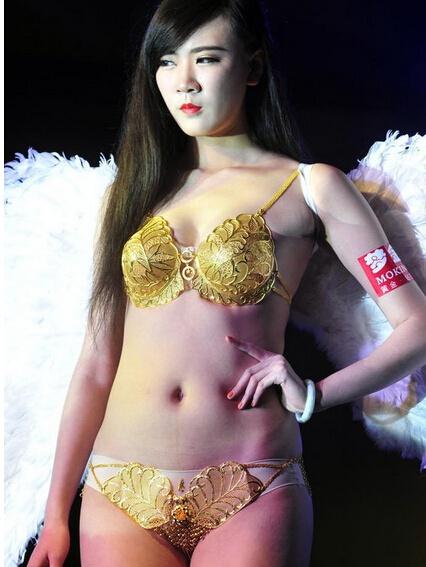 Китайцы показали золотые трусы и лифчик - Стиль - Дизайнеры ... c1193b7dea3