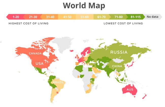 Украина угодила втройку самых недорогих для жизни стран— исследование