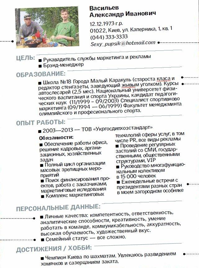 Ищущим работу: чего не стоит писать в своем резюме ...: http://www.segodnya.ua/life/work/Ishchushchim-rabotu-chego-ne-stoit-pisat-v-svoem-rezyume.html