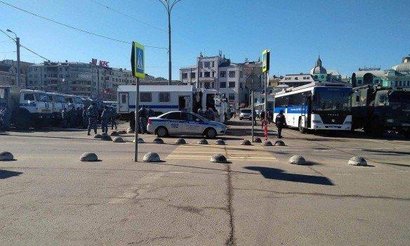 В российской столице задержали Навального