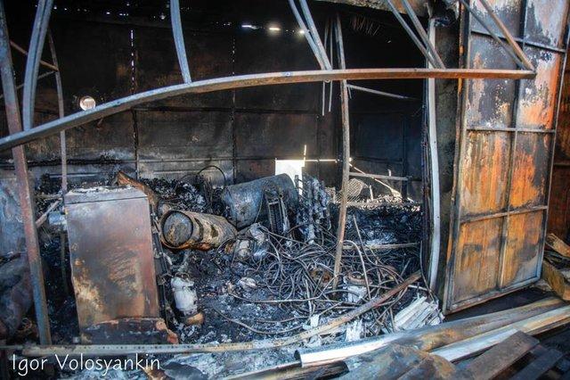 ВНежине три часа тушили пожар нарынке