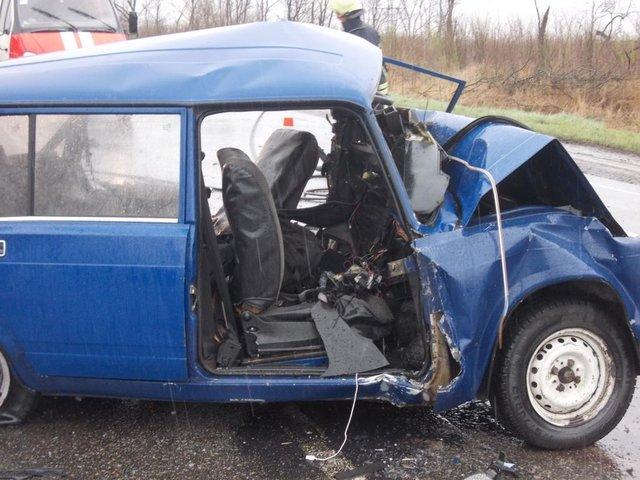 Авария в Запорожской области. Фото: ГСЧС