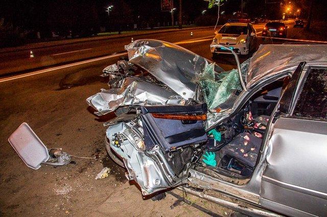 ВДнипре случилось печальное ДТП: После удара мотор вылетел измашины