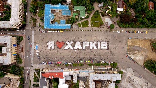 ВХарькове более 10 тысячи велосипедистов приехали навелодень