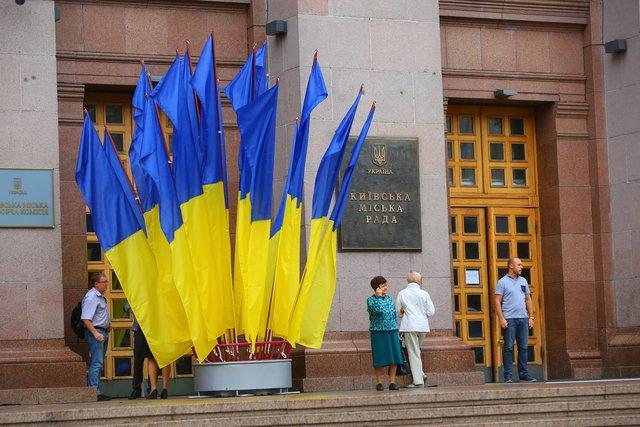 Киев готовится к празднованию Дня флага и Дня независимости Украины 2017 г. Фото: Данил Павлов.