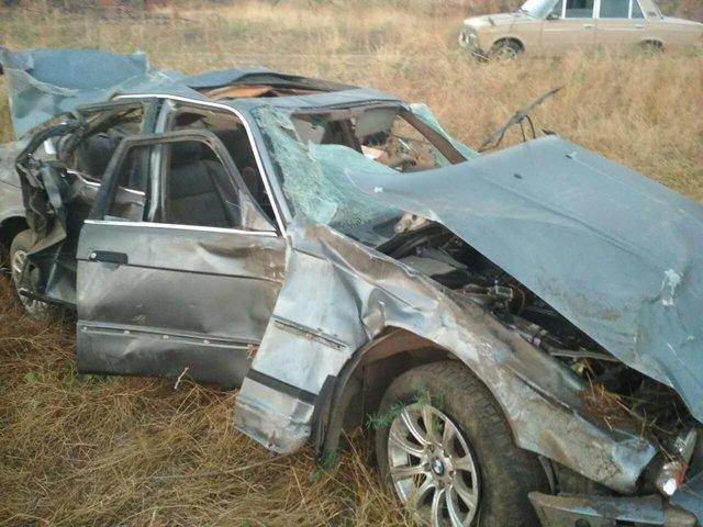 ВЗапорожской области перевернулся БМВ , пострадали 5  человек