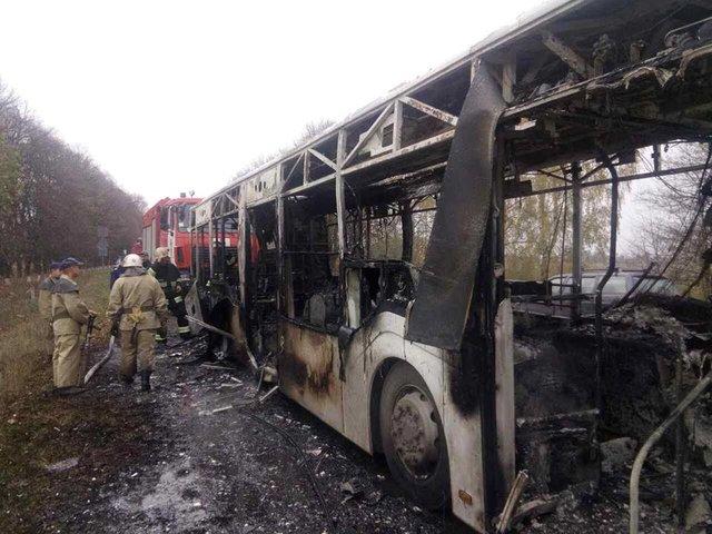 В Винницкой области на ходу загорелся пассажирский автобус