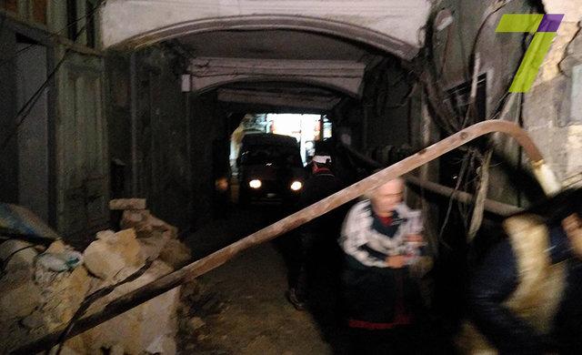 ВОдессе обрушилась стена жилого дома