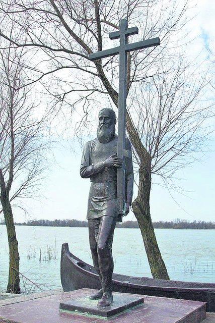 В Вилково. Памятник староверу. Фото: tgavan.com.ua