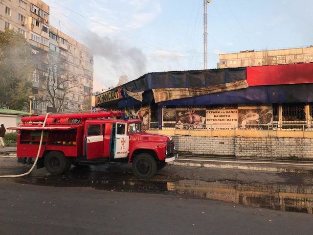 ВЗапорожской области зажегся торговый центр