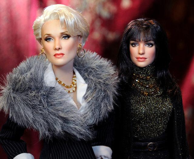 «Дьявол носит Prada». Куклы-звезды Голливуда от Ноэля Круза. Фото: www.ncruz.com