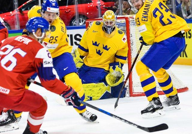 Сборная Латвии впервом матче чемпионата мира похоккею выиграла уНорвегии
