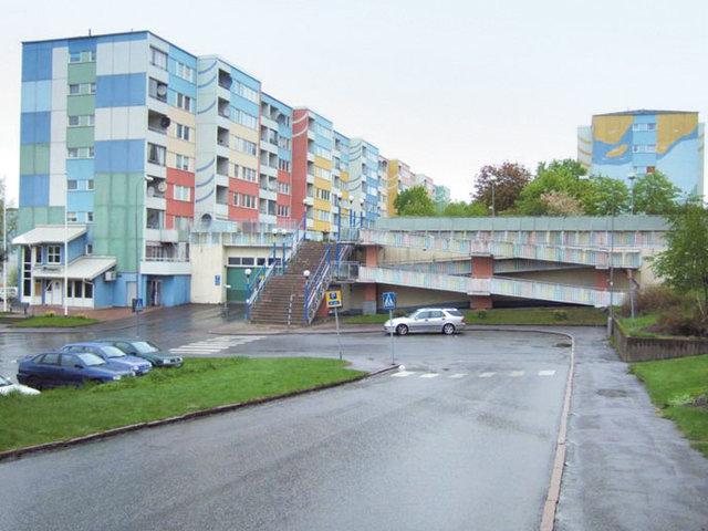 Русенборг. Примерно 84% населения — мигранты