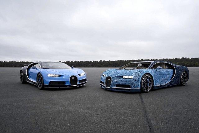 LEGO собрала полноразмерный Bugatti Chiron из 1 млн деталей конструктора и 2304 электродвигателей. И он способен ездить! [видео]