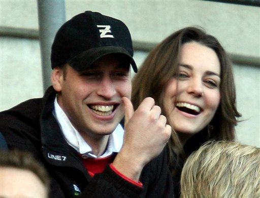 *** FILE *** Britain's Prince William, with his gilrfriend Kate Middleton, watch the England against Italy Six Nations rugby match at Twickenham stadium in London, Saturday Feb. 10, 2007. Prince William and former girlfriend Kate Middleton have resumed their relationship, British newspapers reported Sunday June 24, 2007. (AP Photo/PA, David Davies) ** UNITED KINGDOM OUT  **