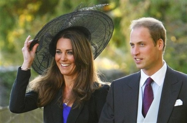 FILE --  Britain's  Prince William and Kate Middleton leave the wedding of their friends Harry Mead and Rosie Bradford in the village of Northleach, England, in this October 23, 2010, file photo. According to an announcement from Clarence House in London, Tuesday Nov. 16, 2010, the couple are engaged, and will be married in 2011.(AP Photo/Chris Ison, pa , file)  **UNITED KINGDOM OUT: NO SALES: NO ARCHIVE:**
