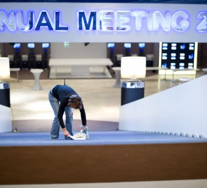 "Picture taken on January 24, 2011 shows the Congress Center where the World Economic Forum annual meeting will take place in Davos. Switzerland has mobilised up to 5,000 soldiers to secure the areas surrounding the alpine village of Davos, where world political and economic leaders are to gather this week. AFP PHOTO /JOHANNES EISELE , A sniper of Swiss police stands on top of the Congress Center on January 25, 2011 in Davos where the World Economic Forum annual meeting will take place . Switzerland has mobilised up to 5,000 soldiers to secure the areas surrounding the alpine village of Davos, where world political and economic leaders are to gather this week. AFP PHOTO /JOHANNES EISELE , Staff install a painting inside the Davos' Congress Center ahead of the World Economic Forum annual meeting on January 25, 2011 in Davos. The eurozone's debt battle and the power shift towards emerging giants like China and India will be at the heart of discussions on a ""fundamentally changed world"" at this week's Davos meeting of global elites.    AFP PHOTO / FABRICE COFFRINI , Empty seats are ready at the Davos' Congress Center ahead of the World Economic Forum annual meeting on January 25, 2011 in Davos. The eurozone's debt battle and the power shift towards emerging giants like China and India will be at the heart of discussions on a ""fundamentally changed world"" at this week's Davos meeting of global elites.    AFP PHOTO / FABRICE COFFRINI , A Swiss police sniper stands on the roof of the Congress Center on January 25, 2011 on the eve of the World Economic Forum annual meeting in Davos. Switzerland has mobilized up to 5,000 soldiers to secure the area surrounding the alpine village of Davos, where world political and economic leaders are to gather this week. AFP PHOTO / JOHANNES EISELE , A Swiss police sniper stands on the roof of the Congress Center on January 25, 2011 on the eve of the World Economic Forum annual meeting in Davos. Switzerland has mobilized up to 5,000 soldiers to secure the area surrounding the alpine village of Davos, where world political and economic leaders are to gather this week. AFP PHOTO / JOHANNES EISELE , A woman cleans stairs of the Congress Center on January 25, 2011 on the eve of the World Economic Forum annual meeting in Davos. Switzerland has mobilized up to 5,000 soldiers to secure the area surrounding the alpine village of Davos, where world political and economic leaders are to gather this week. AFP PHOTO / JOHANNES EISELE"