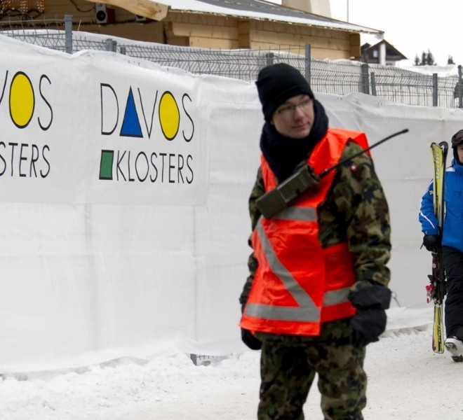"Picture taken on January 24, 2011 shows the Congress Center where the World Economic Forum annual meeting will take place in Davos. Switzerland has mobilised up to 5,000 soldiers to secure the areas surrounding the alpine village of Davos, where world political and economic leaders are to gather this week. AFP PHOTO /JOHANNES EISELE , A sniper of Swiss police stands on top of the Congress Center on January 25, 2011 in Davos where the World Economic Forum annual meeting will take place . Switzerland has mobilised up to 5,000 soldiers to secure the areas surrounding the alpine village of Davos, where world political and economic leaders are to gather this week. AFP PHOTO /JOHANNES EISELE , Staff install a painting inside the Davos' Congress Center ahead of the World Economic Forum annual meeting on January 25, 2011 in Davos. The eurozone's debt battle and the power shift towards emerging giants like China and India will be at the heart of discussions on a ""fundamentally changed world"" at this week's Davos meeting of global elites.    AFP PHOTO / FABRICE COFFRINI , Empty seats are ready at the Davos' Congress Center ahead of the World Economic Forum annual meeting on January 25, 2011 in Davos. The eurozone's debt battle and the power shift towards emerging giants like China and India will be at the heart of discussions on a ""fundamentally changed world"" at this week's Davos meeting of global elites.    AFP PHOTO / FABRICE COFFRINI , A Swiss police sniper stands on the roof of the Congress Center on January 25, 2011 on the eve of the World Economic Forum annual meeting in Davos. Switzerland has mobilized up to 5,000 soldiers to secure the area surrounding the alpine village of Davos, where world political and economic leaders are to gather this week. AFP PHOTO / JOHANNES EISELE , A Swiss police sniper stands on the roof of the Congress Center on January 25, 2011 on the eve of the World Economic Forum annual meeting in Davos. Switzerland has mobilized up to 5,000 soldiers to secure the area surrounding the alpine village of Davos, where world political and economic leaders are to gather this week. AFP PHOTO / JOHANNES EISELE , A woman cleans stairs of the Congress Center on January 25, 2011 on the eve of the World Economic Forum annual meeting in Davos. Switzerland has mobilized up to 5,000 soldiers to secure the area surrounding the alpine village of Davos, where world political and economic leaders are to gather this week. AFP PHOTO / JOHANNES EISELE , A Swiss police sniper stands on the roof of the Belvedere Hotel on January 25, 2011 in Davos. Switzerland has mobilised up to 5,000 soldiers to secure the areas surrounding the alpine village of Davos, where world political and economic leaders are to gather this week.   AFP PHOTO /JOHANNES EISELE , A Swiss police sniper stands on a roof near the Davos Congress center ahead of the World Economic Forum annual meeting on January 25, 2011 in Davos. Switzerland has mobilised up to 5,000 soldiers to secure the areas surrounding the alpine village of Davos, where world political and economic leaders are to gather this week.     AFP PHOTO / FABRICE COFFRINI , Snipers take position on the roof of the Congress Center on January 25, 2011 on the eve of the World Economic Forum annual meeting in Davos. Switzerland has mobilized up to 5,000 soldiers to secure the area surrounding the alpine village of Davos, where world political and economic leaders are to gather this week. AFP PHOTO / FABRICE COFFRINI , A sniper stands on the roof of the Congress Center on January 25, 2011 on the eve of the World Economic Forum annual meeting in Davos. Switzerland has mobilized up to 5,000 soldiers to secure the area surrounding the alpine village of Davos, where world political and economic leaders are to gather this week. AFP PHOTO / FABRICE COFFRINI , Two Swiss police keep watch during the World Economic Forum annual meeting  on January 26, 2011 in Davos. Switzerland has mobilised up to 5,000 soldiers to secure the areas surrounding the alpine village of Davos, where world political and economic leaders are to gather this week. AFP PHOTO /JOHANNES EISELE , The village of Davos is seen prior to the opening of the World Economic Forum (WEF) on January 23, 2011. The Swiss resort of Davos hosts the WEF from January 26 to 30, 2011.  AFP PHOTO / FABRICE COFFRINI , A Swiss soldier watches close to fences ahead of the World Economic Forum annual meeting on January 24, 2011 in Davos. Switzerland has mobilised up to 5,000 soldiers to secure the areas surrounding the alpine village of Davos, where world political and economic leaders are to gather this week.  AFP PHOTO / FABRICE COFFRINI"