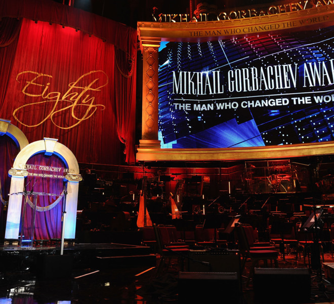 LONDON, ENGLAND - MARCH 30:  A general view during the Gorby 80 Gala at the Royal Albert Hall on March 30, 2011 in London, England. The concert is to celebrate the 80th birthday of the former Soviet leader Mikhail Gorbachev.  (Photo by Ian Gavan/Getty Images)