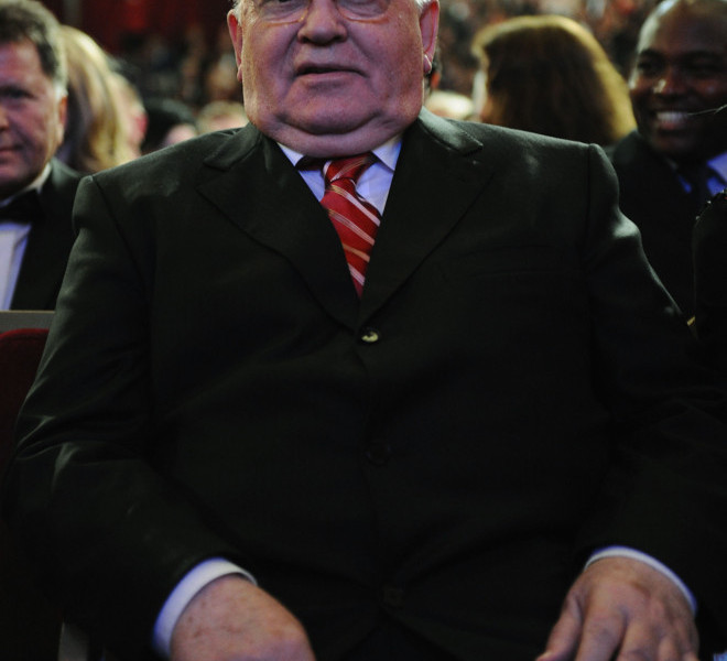 LONDON, ENGLAND - MARCH 30:  Former Soviet Leader Mikhail Gorbachev during the Gorby 80 Gala at the Royal Albert Hall on March 30, 2011 in London, England. The concert is to celebrate the 80th birthday of the former Soviet leader Mikhail Gorbachev.  (Photo by Ian Gavan/Getty Images)