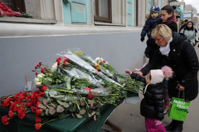 A woman mourns at the  entrance to the metro station hit by a blast in downtown Minsk, on April 12, 2011.  Several people have been arrested for the April 11 bombing on the Minsk metro that killed 12 and wounded 150, the first major apparent act of terror in its post-Soviet history. AFP PHOTO / VIKTOR DRACHEV , A woman places a candle near the entrance to the metro station hit by a blast in downtown Minsk, on April 12, 2011.  Several people have been arrested for the April 11 bombing on the Minsk metro that killed 12 and wounded 150, the first major apparent act of terror in its post-Soviet history.  AFP PHOTO / VIKTOR DRACHEV , A woman cries near an entrance to the metro station hit by a blast in downtown Minsk, on April 12, 2011.  Several people have been arrested for the April 11 bombing on the Minsk metro that killed 12 and wounded 150, the first major apparent act of terror in its post-Soviet history. AFP PHOTO / VIKTOR DRACHEV , A man mounts a Belarus flag with a mourning ribbon  in central Minsk early on April 12, 2011. The explosion at a busy metro station in the heart of the Belarussian capital near the headquarters of autocratic President Alexander Lukashenko stunned a city which has never seen attacks like those suffered in Russia. AFP PHOTO / ALEXEY GROMOV , A girl places candles near a stand with photos of the recent metro blast's victims mounted outside the metro station hit by the blast in downtown Minsk, on April 12, 2011.  Several people have been arrested for the April 11 bombing on the Minsk metro that killed 12 and wounded 150, the first major apparent act of terror in its post-Soviet history. AFP PHOTO / VIKTOR DRACHEV , People light candles early on April 12, 2011, outside a metro station hit by a blast in downtown Minsk. Belarus sought to identify the perpetrators behind the bombing on the Minsk metro that killed 12 and wounded 150 on April 11, the first major apparent act of terror in its post-Soviet history. AFP PHOTO / VIKTOR DRACHEV , A man lays flowers, early on April 12, 2011, outside a metro station hit by a blast in downtown Minsk on April 11. Belarus sought to identify the perpetrators behind the bombing on the Minsk metro that killed 12 and wounded 150, the first major apparent act of terror in its post-Soviet history. AFP PHOTO / VIKTOR DRACHEV , Japanese police officers climb up a slope after receiving a tsunami warning following a powerful tremor, one of hundreds of aftershocks stemming from the massive earthquake-tsunami that hit a month ago, in Minamisanriku, Miyagi prefecture on April 12, 2011.  Japan's Prime Minister Naoto Kan said that the tsunami-hit Fukushima nuclear plant is gradually stabilising and that the amount of radiation being released is falling.    AFP PHOTO / YASUYOSHI CHIBA , People lay flowers outside the Belarussian Embassy in Moscow on April 12, 2011, for the victims of the blast that hit a metro station in Minsk on April 11. The poster reads: ?Belarus, we are with you! Stay strong!?. Belarus  made the first arrests over the Minsk metro bombing that killed 12 commuters, the worst attack in its modern history which the authorities called a plot to destabilise the country.  AFP PHOTO / ANDREY SMIRNOV