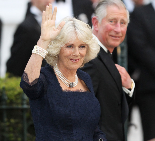 LONDON, ENGLAND - APRIL 28:  Camilla, Duchess of Cornwall (L) and HRH Prince Charles, Prince of Wales attend a gala pre-wedding dinner held at the Mandarin Oriental Hyde Park on April 28, 2011 in London, England.  (Photo by Chris Jackson/Getty Images)
