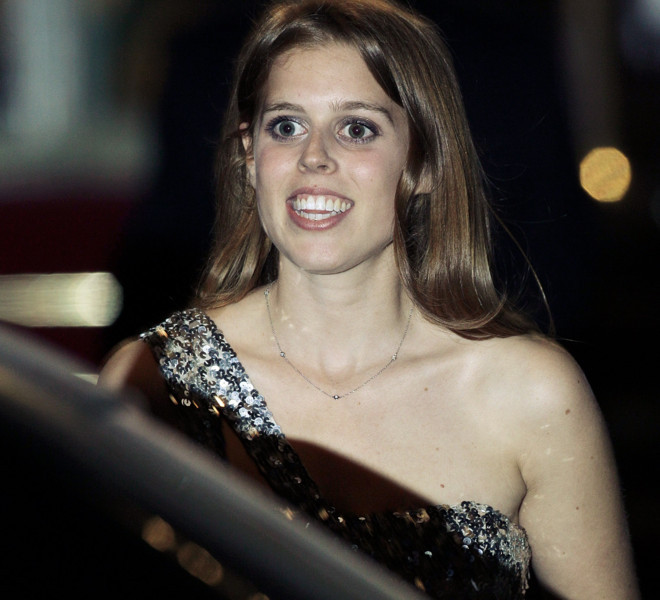 LONDON, ENGLAND - APRIL 28:  Princess Beatrice of York leaves a gala pre-wedding dinner held at the Mandarin Oriental Hyde Park on April 28, 2011 in London, England.  (Photo by Matthew Lloyd/Getty Images)