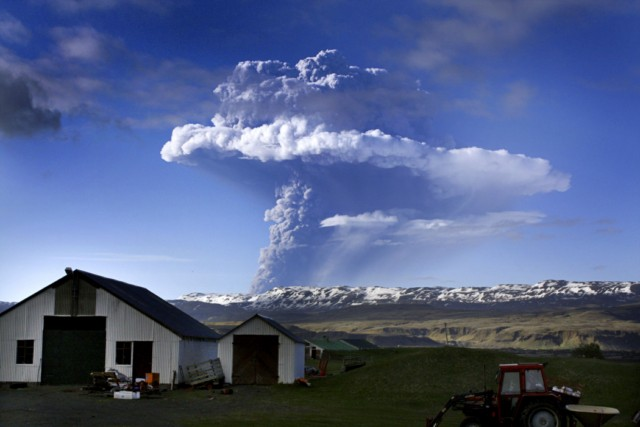 "Lightning is seen through a cloud of smoke and ash pouring out of the erupting Grimsvoetn volcano in Grmsvoetn, Iceland, on May 22, 2011. Safety experts warned that ash from an erupting Icelandic volcano that closed the country's airspace may blow across large swathes of western Europe, raising fears of new flight chaos. Air safety officials said ash from the Grimsvoetn eruption may reach north Scotland by May 24 before sweeping across Britain to hit France and Spain two days later.  AFP PHOTO / RAGNAR AXELSSON   ***ICELAND OUT*** , EDITORS NOTE -- RESTRICTED TO EDITORIAL USE - MANDATORY CREDIT ""AFP PHOTO / NASA MODIS"" - NO MARKETING NO ADVERTISING CAMPAIGNS - DISTRIBUTED AS A SERVICE TO CLIENTS An image released by the NASA Modis on May 22, 2011 shows smoke billowing from the Grimsvoetn, Iceland's most active volcano. Authorities shut Iceland's airspace Sunday after the country's most active volcano began spewing ash cloud 20 kilometers into the sky, raising fears of a repeat of last year's flights chaos. While experts said the impact of the Grimsvoetn eruption should not be as far-reaching as the 2010 crisis, ash deposits were being sprinkled over the capital Reykjavik some 400 kilometres (250 miles) to the west.  AFP PHOTO / NASA MODIS , A cloud of smoke and ash is seen over the Grimsvoetn volcano on Iceland on May 21, 2011. The cloud rising up from Grimsvoetn as a result of the eruption was seen first time around 1900 GMT and in less than an hour it had reached an altitude of 11 kilometres (6.8 miles),"" according to the Icellandic meterological institute. AFP PHOTO"