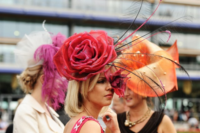 A Race-goer wearing a flamboyant hat poses for the media on Ladies Day at the annual Royal Ascot horse racing event near Windsor, Berkshire on June 16, 2011. The five-day meeting is one of the highlights of the global horse racing calendar. AFP PHOTO/Carl de Souza , A race-goer wearing a flamboyant hat takes a picture on Ladies Day at the annual Royal Ascot horse racing event near Windsor, Berkshire on June 16, 2011. The five-day meeting is one of the highlights of the global horse racing calendar. AFP PHOTO/Carl de Souza , A Race-goer wearing flamboyant hats poses for the media on Ladies Day at the annual Royal Ascot horse racing event near Windsor, Berkshire on June 16, 2011. The five-day meeting is one of the highlights of the global horse racing calendar. AFP PHOTO/Carl de Souza , Race-goers wearing flamboyant hats pose for the media on Ladies Day at the annual Royal Ascot horse racing event near Windsor, Berkshire on June 16, 2011. The five-day meeting is one of the highlights of the global horse racing calendar. AFP PHOTO/Carl de Souza , Britain's Queen Elizabeth II (2nd) is pictured on the second day of the annual Royal Ascot horse racing event near Windsor, Berkshire, west of London, on June 15, 2011. The five-day meeting is one of the highlights of the global horse racing calendar. Horse racing has been held at the famous Berkshire course since 1711 and tradition is a hallmark of the meeting. Top hats and tails remain compulsory in parts of the course while a daily procession of horse-drawn carriages brings the Queen to the course. AFP PHOTO/Carl de Souza , Racegoers celebrates as horses cross the finish line on the second day of the annual Royal Ascot horse racing event near Windsor, Berkshire, west of London, on June 15, 2011. The five-day meeting is one of the highlights of the global horse racing calendar. Horse racing has been held at the famous Berkshire course since 1711 and tradition is a hallmark of the meeting. Top hats and tails remain compulsory in parts of the course while a daily procession of horse-drawn carriages brings the Queen to the course. AFP PHOTO/Carl de Souza , A racegoer celebrates as horses cross the finish line on the second day of the annual Royal Ascot horse racing event near Windsor, Berkshire, west of London, on June 15, 2011. The five-day meeting is one of the highlights of the global horse racing calendar. Horse racing has been held at the famous Berkshire course since 1711 and tradition is a hallmark of the meeting. Top hats and tails remain compulsory in parts of the course while a daily procession of horse-drawn carriages brings the Queen to the course. AFP PHOTO/Carl de Souza , A race-goer wears a hat with an iPad design on the second day of the annual Royal Ascot horse racing event near Windsor, west of London, in Berkshire, on June 15, 2011. The five-day meeting is one of the highlights of the global horse racing calendar. Horse racing has been held at the famous Berkshire course since 1711 and tradition is a hallmark of the meeting. Top hats and tails remain compulsory in parts of the course while a daily procession of horse-drawn carriages brings the Queen to the course. AFP PHOTO/Carl de Souza , TOPSHOTS A race-goer with a flamboyant hat is pictured on Ladies Day at the annual Royal Ascot horse racing event near Windsor, Berkshire on June 16, 2011. The five-day meeting is one of the highlights of the global horse racing calendar.   AFP PHOTO/ CARL DE SOUZA , A race-goer with a flamboyant hat is pictured on Ladies Day at the annual Royal Ascot horse racing event near Windsor, Berkshire on June 16, 2011. The five-day meeting is one of the highlights of the global horse racing calendar. AFP PHOTO/Carl de Souza , A race-goer with a flamboyant hat is pictured on Ladies Day at the annual Royal Ascot horse racing event near Windsor, Berkshire on June 16, 2011. The five-day meeting is one of the highlights of the global horse racing calendar. AFP PHOTO/Carl de Souza , A race-goer with a flamboyant hat is pictured on Ladies Day at the annual Royal Ascot horse racing event near Windsor, Berkshire on June 16, 2011. The five-day meeting is one of the highlights of the global horse racing calendar. AFP PHOTO/Carl de Souza , A race-goer with a flamboyant hat is pictured on Ladies Day at the annual Royal Ascot horse racing event near Windsor, Berkshire on June 16, 2011. The five-day meeting is one of the highlights of the global horse racing calendar. AFP PHOTO/Carl de Souza , Race-goers wearing flamboyant hats are pictured on Ladies Day at the annual Royal Ascot horse racing event near Windsor, Berkshire on June 16, 2011. The five-day meeting is one of the highlights of the global horse racing calendar. AFP PHOTO/Carl de Souza