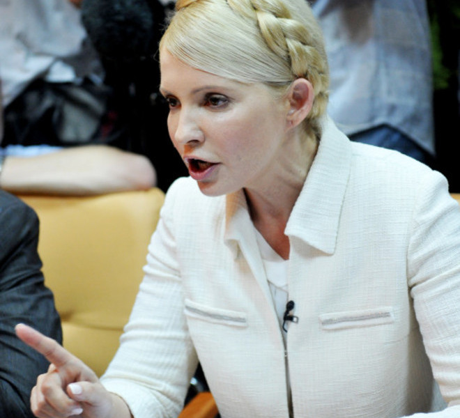 Ukraine's ex-prime minister Yulia Tymoshenko speaks at the beginning her court hearing in Kiev on June 24, 2011. Ukraine's ex-prime minister Yulia Tymoshenko went on trial for alleged abuse of power, in a case she has dismissed as revenge by President Viktor Yanukovych.  AFP PHOTO/ SERGEI SUPINSKY