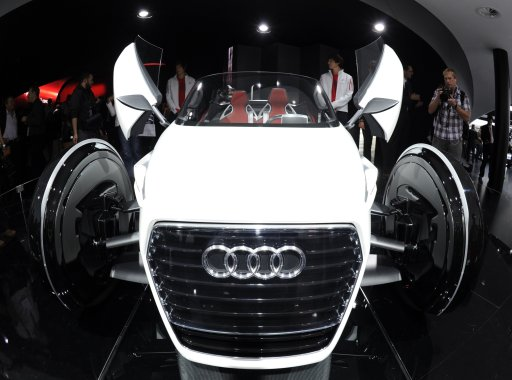 The German Audi urban concept car is displayed at the international car show IAA (Internationale Automobil-Ausstellung) press day in Frankfurt/M., western Germany, on September 13, 2011. The world's biggest motor show, the IAA, is running from September 15 to 25, 2011. AFP PHOTO / BORIS ROESSLER == GERMANY OUT