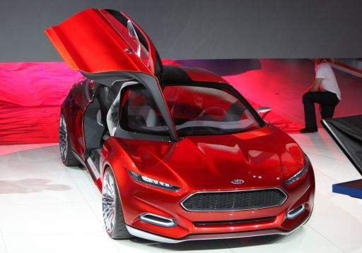 The Evos concept car by Ford is on display at the international car show IAA (Internationale Automobil-Ausstellung) in Frankfurt/M., western Germany, on September 13, 2011. The world's biggest motor show, the IAA, is running from September 15 to 25, 2011.  AFP PHOTO  DANIEL ROLAND