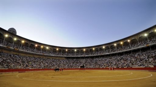 A general view of Barcelona's Monumental arena on September 25, 2011. Top matadors performed in Barcelona's Monumental arena for the last time on September 25 before a ban against the centuries-old blood sport comes into effect in Spain's northeastern Catalonia region. AFP PHOTO/ LLUIS GENE.