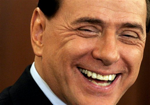 ** FILE ** Silvio Berlusconi, shown in this Nov. 30, 2007 file photo, says he feels a great responsibility after winning Italian elections. Berlusconi has made his first public comments in a phone call to RAI public television after elections returns gave him a clear victory Monday, April 14, 2008. (AP Photo/Gregorio Borgia/Files)