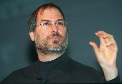 "(FILES): This September 17, 1998 file photo shows Apple co-founder Steve Jobs during a press conference in Paris, France.  Apple on Wednesday, October 5, 2011 announced the death of its visionary co-founder Steve Jobs. ""We are deeply saddened to announce that Steve Jobs passed away today,"" the company's board of directors said in a statement. ""Steve's brilliance, passion and energy were the source of countless innovations that enrich and improve all of our lives. The world is immeasurably better because of Steve.""    AFP PHOTO / Files/ Eric CABANIS"