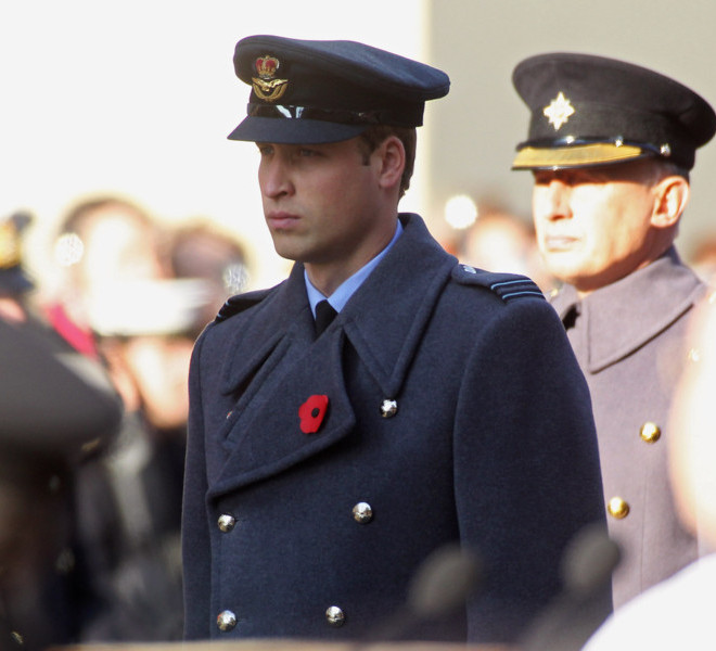 LONDON, UNITED KINGDOM - NOVEMBER 13:  Prince William, Duke of Cambridge attends the Remembrance Day Ceremony at the Cenotaph on November 13, 2011 in London, United Kingdom.  (Photo by Danny Martindale/Getty Images)