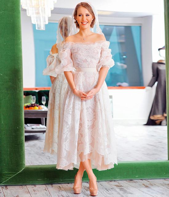 Ксения собчак свадебное платье фото