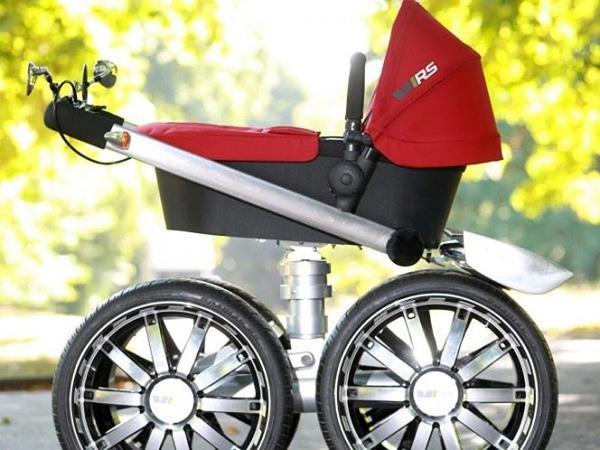 автопроизводитель skoda выпустил детскую коляску-вездеход