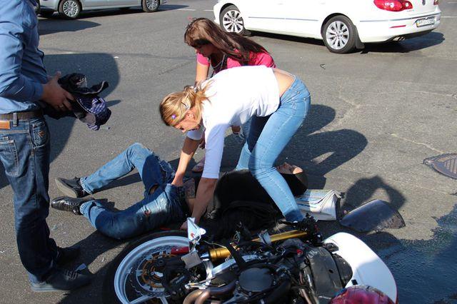 Блохин попал в аварию