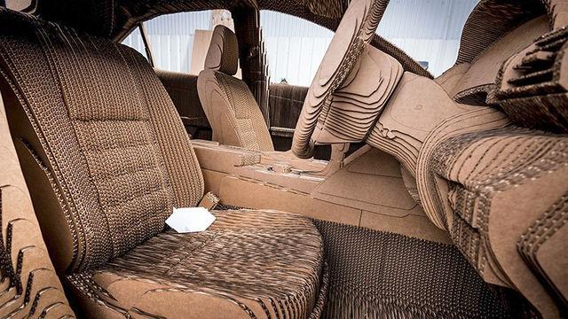 Лексус построила картонный седан сэлектромотором