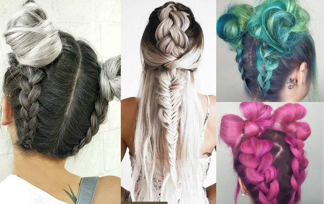Как вплести цветные волосы в косу