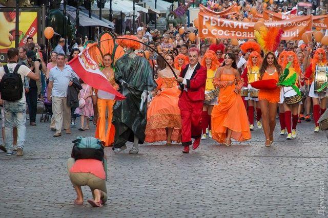 ВОдессе прошел «Рыжий фестиваль» для рыжего города