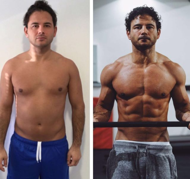 Картинки по запросу 12 недель результата: американец показал пример толстякам (фото)