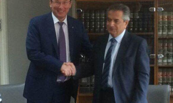 Луценко наКипре согласовал общие действия в сопротивлении коррупции иотмыванию средств