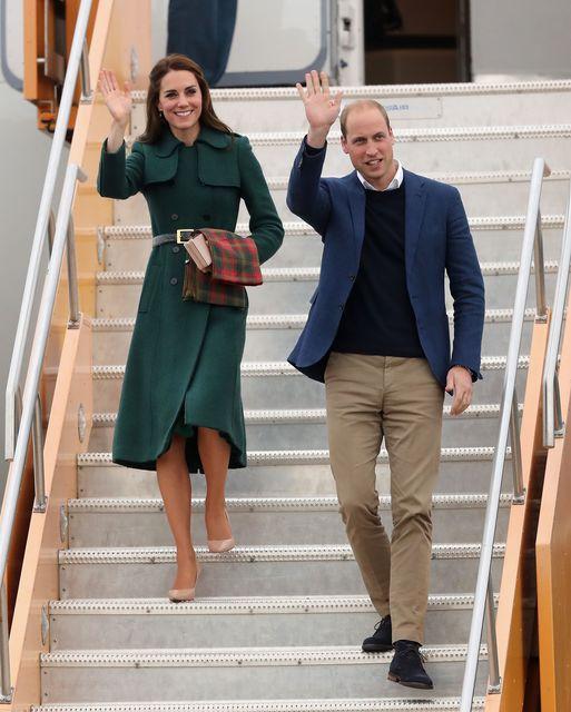 Герцогиня Кембриджская Кейт Миддлтон с мужем в Канаде