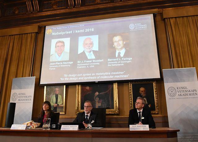 Нобелевскую премию похимии присудили засинтез молекулярных машин